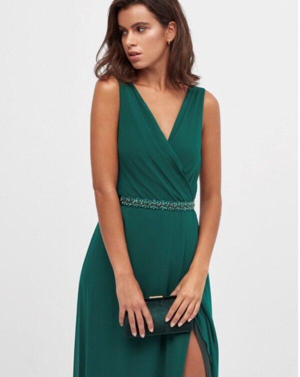 Vestido Largo Cora Verde 3