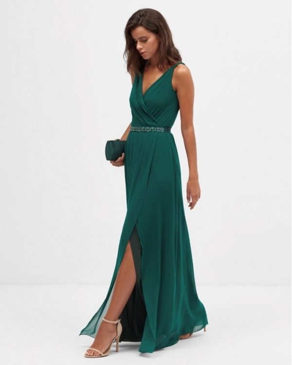 Vestido Largo Cora Verde